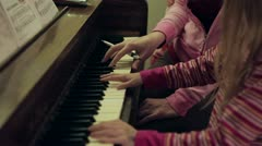 Piano Lessons Stock Footage