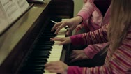 Stock Video Footage of Piano Lessons