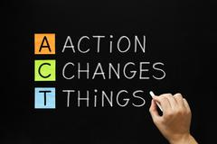 action changes things acronym - stock photo