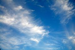 Stock Photo of blue sky and white cloud