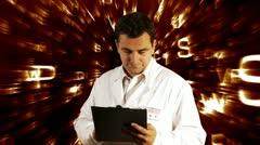 Scientist Checking Documents Scientific Mathematics Background 15 720 Stock Footage