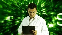 Scientist Checking Documents Scientific Mathematics Background 16 720 Stock Footage