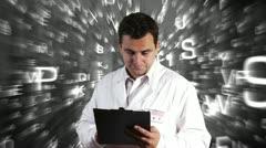 Scientist Checking Documents Scientific Mathematics Background 18 720 Stock Footage