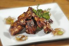 Grilled chicken legs Stock Photos