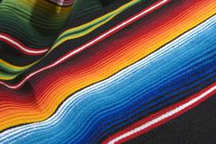 Colorful mexican poncho Stock Photos