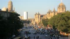 Chhatrapati Shivaji Terminus, Mumbai, India Stock Footage
