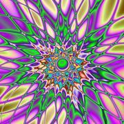 Psychedelic Smash - stock illustration