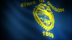 Flag of Oregon - stock footage