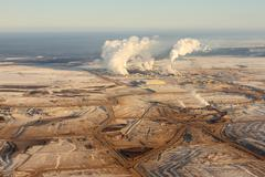 Alberta oilsands Stock Photos