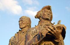 Lewis and Clark statue Stock Photos