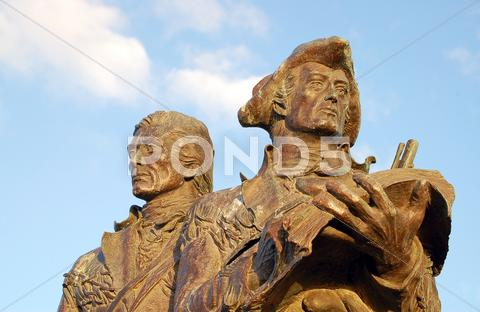 Stock photo of Lewis and Clark statue