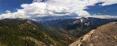 Mountains in the Sierra Nevada - stock photo