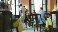 Professional Dancers Entertain In A Havana Cuban Restaurant - stock footage