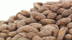 Pinto beans zoom out 4 Stock Footage