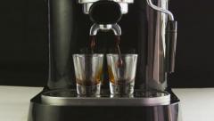 Slow Motion Espresso Machine Stock Footage