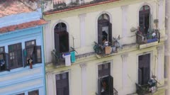Havana Apartments Stock Footage