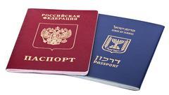 double nationality - russian & israeli - stock photo