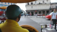 POV Driving In A Cuban Coco Taxi Havana Stock Footage