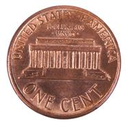 Isolated penny - tails frontal Stock Photos
