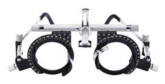 isolated eyesight testing spectacles - stock photo
