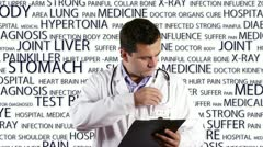 Stock Video Footage of Young Doctor Checking Signing Documents Medical Bakcground 9 720