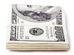 folded 100 us$ bills - stock illustration