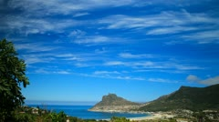 Timelapse over bay,Hout Bay Stock Footage