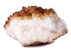 Isolated citrine quartz rock Stock Photos