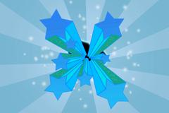 Stars on dynamic background Stock Illustration