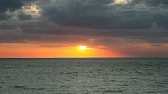 BEAUTIFUL SUNSET ON BEACH, SANIBEL ISLAND, FLA Stock Footage