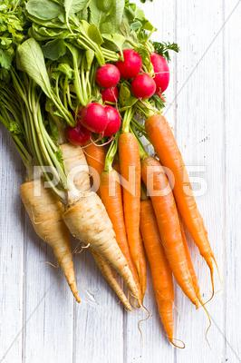 Stock photo of root vegetables