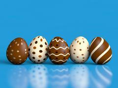 Easter eggs on blue Stock Illustration