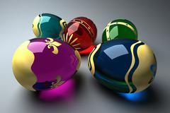 Glass easter eggs Stock Illustration
