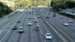 Time Lapse of Busy 101 Freeway Traffic in Los Angeles Stock Footage