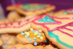 colorful girlie cookies - stock photo