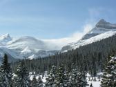 Bow summit winter view Stock Photos