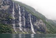 Norway - Seven Sisters Waterfall Stock Photos