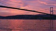Bosporus bridge Stock Footage