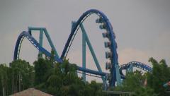 Looping Manta Flying Rollercoaster at Seaworld Orlando Stock Footage