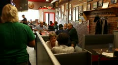 SMALL TOWN DINER_PEOPLE EATING, ENJOYING Stock Footage