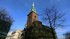 All Hallows by the Tower, wide shot Stock Footage