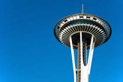 space needle in seattle - stock photo