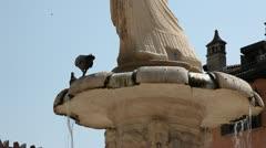 Verona fountaine statue Stock Footage
