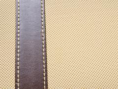 artificial  light brown leather texture background - stock photo