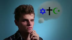 Man and religion Stock Footage
