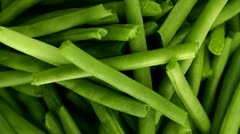 Fresh Green Pods Food Vegetable - stock footage