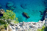 Stock Photo of Azure sea at Capri island