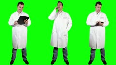 Young Doctor Good News Bundle Greenscreen 4 720 Stock Footage