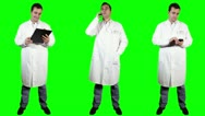 Stock Video Footage of Young Doctor Good News Bundle Greenscreen 4 720
