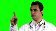 Stock Video Footage of Young Doctor Retina Check Touchscreen Closeup Greenscreen 18 720